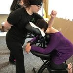 Chair massage event